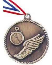 High Relief Track Medal