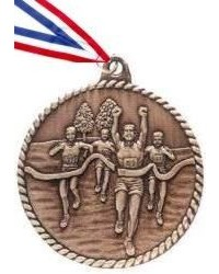High Relief Cross Country Medal