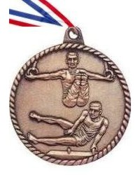 High Relief Male Gymnastics Medal