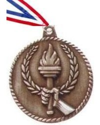 High Relief Torch Medal