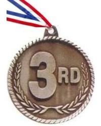 High Relief Third Place Medal