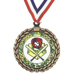 Wreath Baseball /Softball Insert Medal