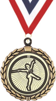Wreath Baton Twirling Insert Medal