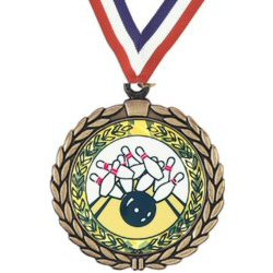 Wreath Bowling Insert Medal