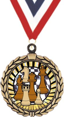 Wreath Chess Insert Medal