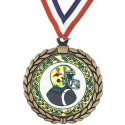Wreath Football Insert Medal