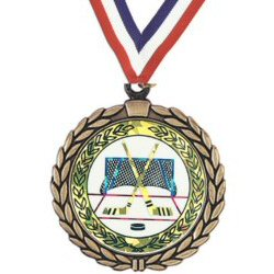 Wreath Hockey Insert Medal