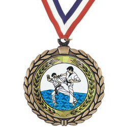 Wreath Martial Arts Insert Medal