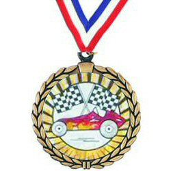 Wreath Pinewood Derby Insert Medal