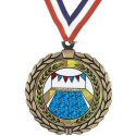 Wreath Insert Medal - Swimming