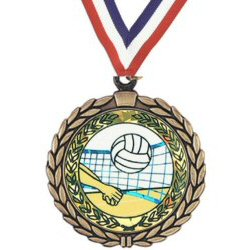 Wreath Insert Volleyball Medal
