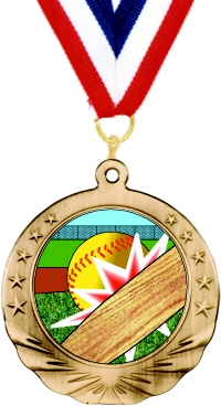 Softball Motion Medal