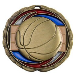 Epoxy Basketball Medal