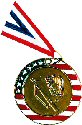 Stars and Stripes Baseball / Softball Medal