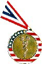 Stars and Stripes Cheerleading Medal