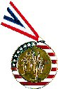 Stars and Stripes Running Medal