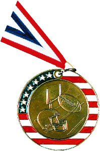 Stars and Stripes Football Medal