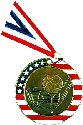 Stars and Stripes Golf Medal