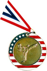 Stars and Stripes Karate Medal