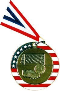 Stars and Stripes Soccer Medal