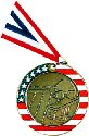 Stars and Stripes Swimming Medal