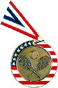 Stars and Stripes Tennis Medal