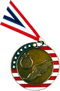 Stars and Stripes Track Medal