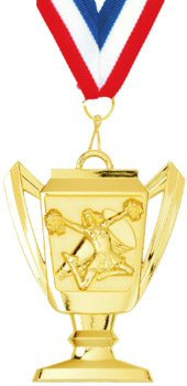Trophy Cup Cheerleading Medal