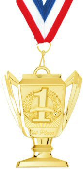 Trophy Cup Place Medal