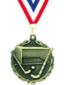 Wreath Field Hockey Medal