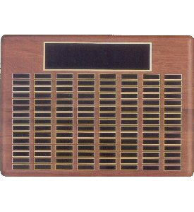 Solid American Walnut 120 Plate Plaque
