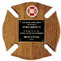 Maltese Cross Fire Award Plaque
