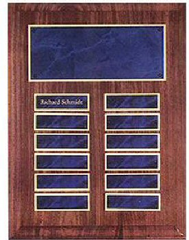Walnut Sapphire Marble 12 Plates Plaque