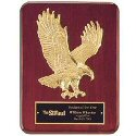 Sculptured Eagle Rosewood Plaque