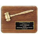 Bronze Gavel Walnut Plaque