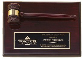 Rosewood Piano Gavel Plaque