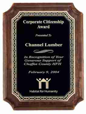 Citizenship Award Plaque