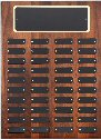 Genuine Walnut 40 Plates Perpetual Plaque