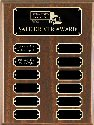 Walunt Finish 12 Plate Perpetual Plaque