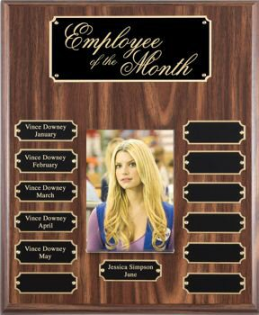 Walnut Finish Photo Perpetual Plaque