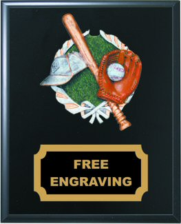High Relief Colored Baseball Emblem Plaque