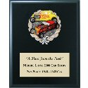 High Relief Colored Car Show Emblem Plaque