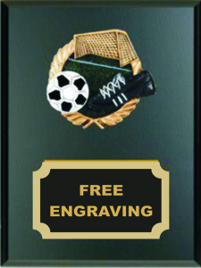 High Relief Colored Soccer Emblem Plaque