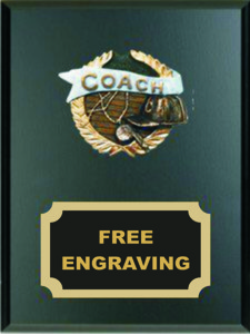 High Relief  Colored Coach Emblem Plaque