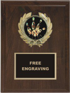 Wreath Bowling Insert Emblem Plaque