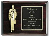 Piano Finish Mahogany Salesman Plaque