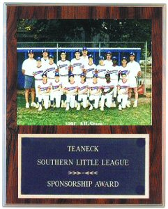 Large Slide-in Sponsorship Plaque