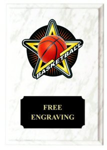 Full Color Basketball Star Plaque