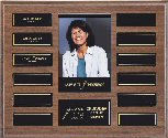 Walnut Pocket Photo Perpetual Plaque