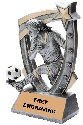 3-D Star Female Soccer Trophy